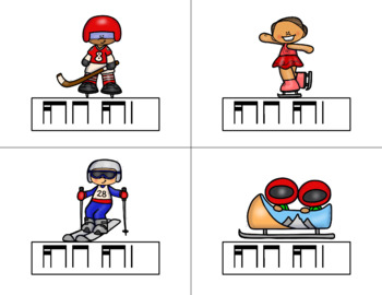 Race for the GOLD! Winter Games Rhythm Relay Game to Practice Tika-ti