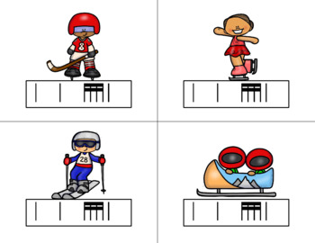 Race for the GOLD! Winter Games Rhythm Relay Game to Practice Tika-tika