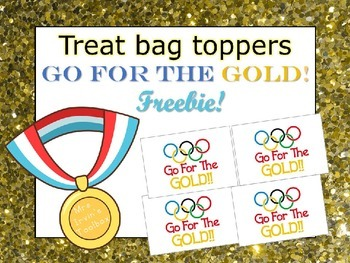 Go for the GOLD! Treat bag toppers!