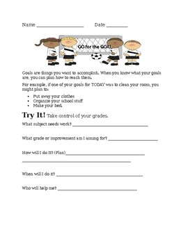 The How and Why of GOAL SETTING worksheet