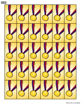 Winter Games Differentiated Math Worksheets and Brag Tags