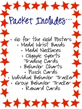 Go for the Gold- Olympic Behavior Unit