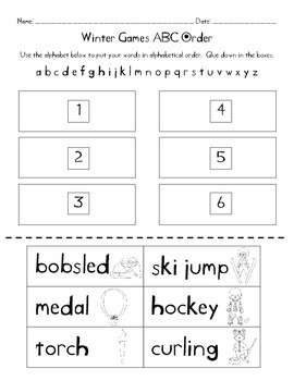 Go for the Gold Olympics Themed Math and Literacy Centers