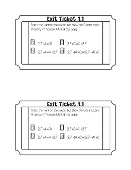 Go math Chapter 1 Exit Tickets