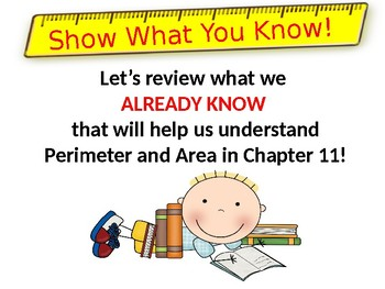 Go Math Chapter 11 Introduction to Perimeter and Area Grade 3 PowerPoint