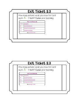 Go math Chapter 2 Exit Tickets