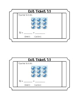 Go math Chapter 7 Exit Tickets