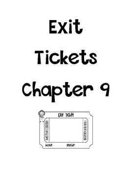 Go math Chapter 9 Exit Tickets