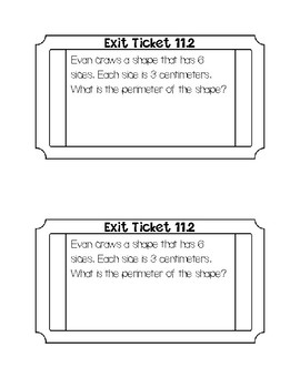 Go math chapter 11 exit tickets