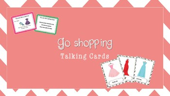 Go shopping Talking Cards