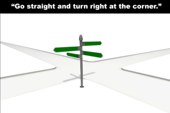 Go straight and turn right at the corner.