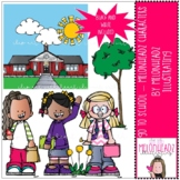Go to School clip art - Melonheadz Characters - Mini - by