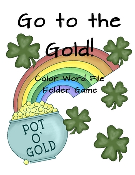Go to the Gold! St. Patrick's Day Color Word File Folder Game