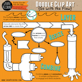 Go with the Flow Doodle Clip Art Collection