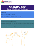 Go with the Flow - Social Story & Worksheets (Being Flexible)