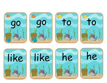 GoFishing for Storytown's Sight words or Highfrequency Words Kindergarten