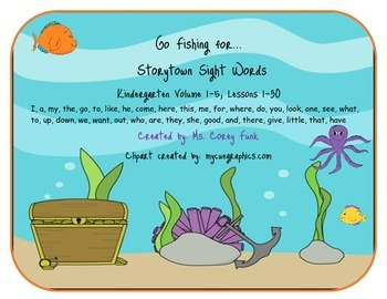 GoFishing for Storytown's Sight words or Highfrequency Wor