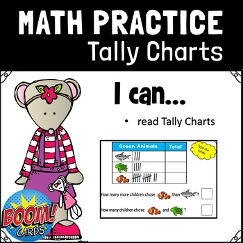 Go Math 1st Grade Chapter 10.5 Tally Charts Interpret Data BOOM CARDS