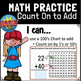 Distance Learning BOOM CARDS | Go Math 1st Use a 100 Chart to Add