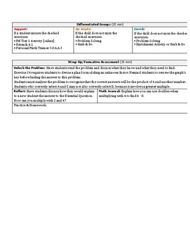 GoMath 3rd Grade Chapter 4 Lesson Plans