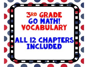 GoMath! 3rd Grade Vocabulary BUNDLE