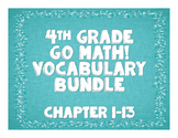GoMath! 4th Grade Vocabulary BUNDLE