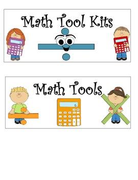 GoMath Center & Tool Signs