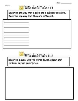 GoMath Ch11 Write About Math