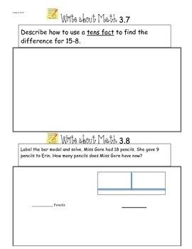 GoMath Ch3 Write About Math