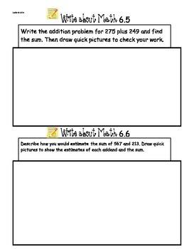 GoMath Ch6 Write About Math