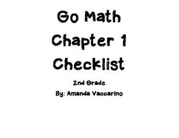 GoMath Chapter 1 Checklist Grade 2