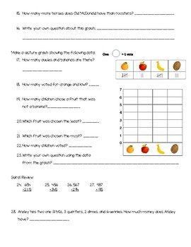 GoMath Chapter 10 Test 2nd Grade