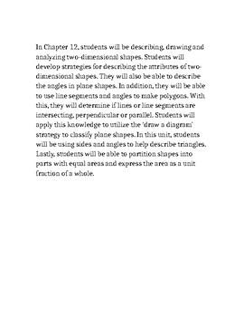 GoMath Chapter 12 Description