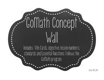 GoMath Chapter 2 Concept Wall