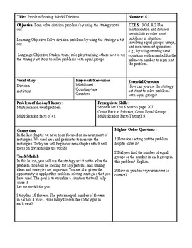 GoMath Chapter 6 lessons Third(3rd) Grade CCLS Aligned and Workshop Model