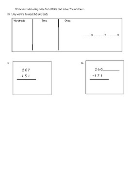 GoMath Chapter 6 test 2nd Grade