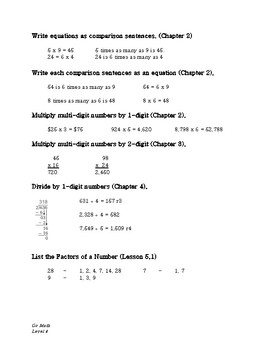 GoMath Chapter 7: Study Guide