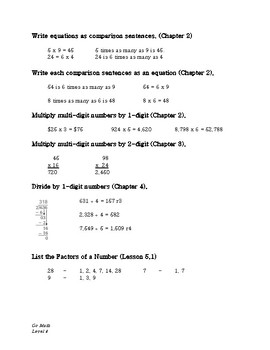 GoMath Chapter 7: Study Guide and Cumulative Test