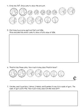 GoMath Chapter 7A test - Money
