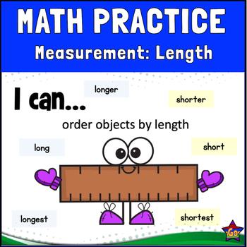 GoMath 1st Grade,  Chapter 9.6 Measurement (Length): BOOM CARDS