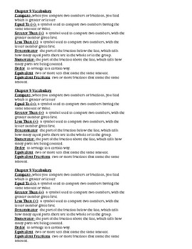 GoMath Chapter 9 Vocabulary