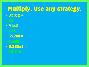 Math Chapters 1-4 Review Bundle ~ Place Value, Multiplication, & Division