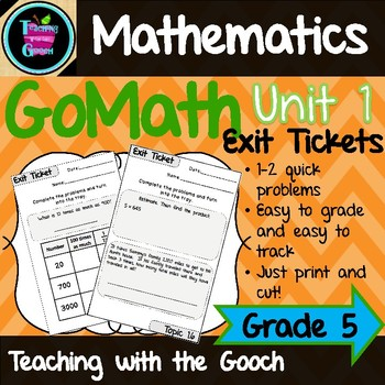 GoMath Exit Tickets-Unit 1 (Bundle coming soon!)