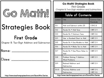GoMath! First Grade Chapter 8 Two Digit Addition and Subtraction Strategies Book