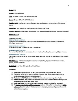 GoMath Grade 1 Chapter 6 and Chapter 7 Task Lessonplan