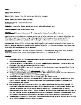 GoMath Grade 1 Chapter 8 Lesson 3 Lessonplan