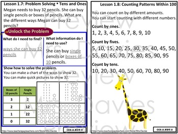 Go Math! Grade 2 Chapter 1: Number Concepts Strategies Reference Book
