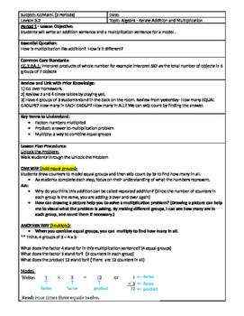 GoMath Grade 3 - Chapter 3 - Lesson 2 ( 3.2 ) Lesson Plan
