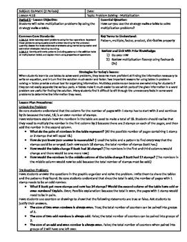 GoMath Grade 3 - Chapter 4 - Lesson 10 - 4.10 Lesson Plan