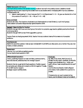 GoMath Grade 3 - Chapter 4 - Lesson 2 - 4. 2 Lesson Plan